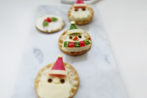 Snowman and Santa Cheese Wedge Snacks