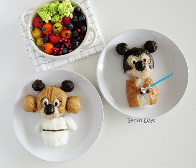 Disney Star Wars food art - Minnie Mouse Princess Leia and Mickey Obi-Wan Kenobi