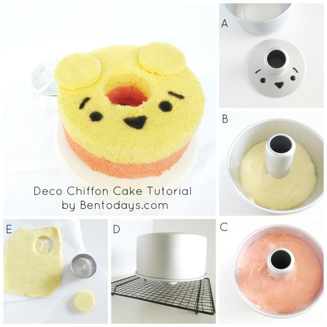 Tsum Tsum Deco Chiffon Cake tutorial