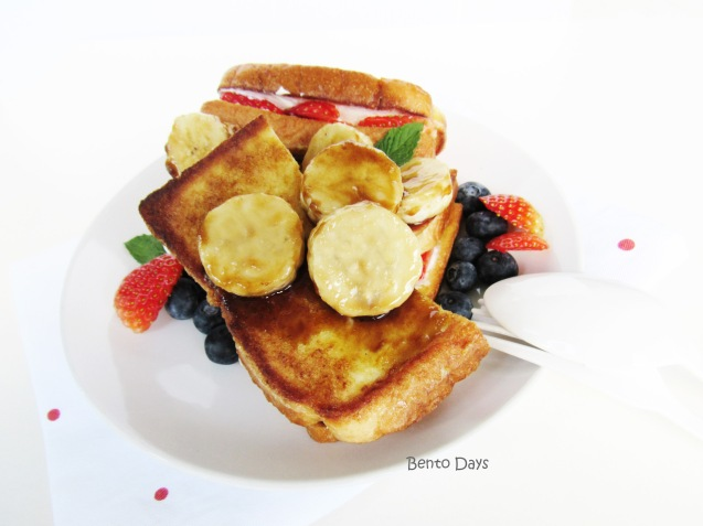 Stuffed french toast with easy caramelized bananas