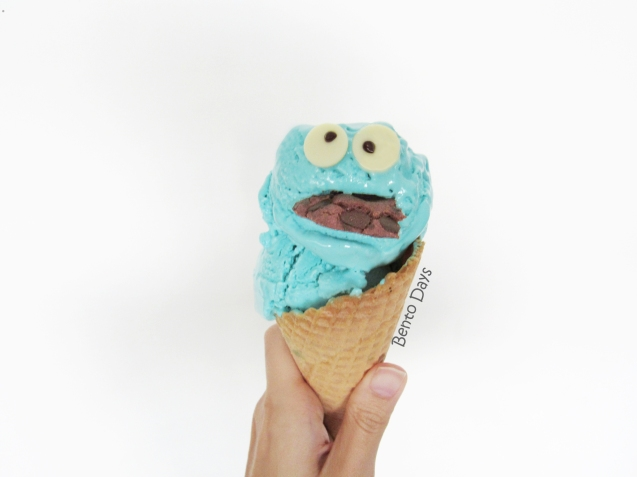 Cookie Monster no churn ice cream recipe