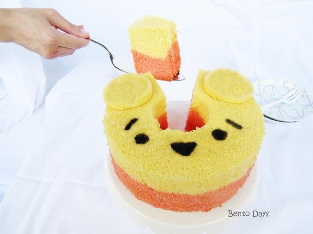 Pooh tsum tsum deco-chiffon cake