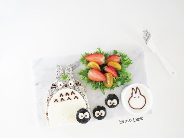 Totoro sandwich bento food art