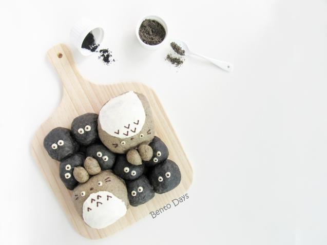 Totoro pull-apart bread buns