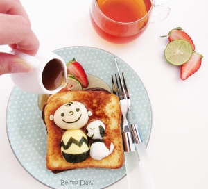 Snoopy and Charlie Brown french toast bento