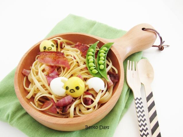 Gudetama quail egg pasta