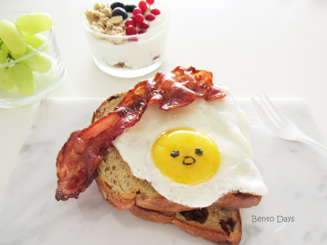 Gudetama breakfast toast
