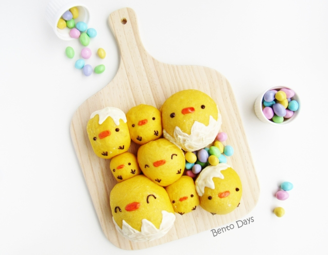 Easter Chicks bread buns