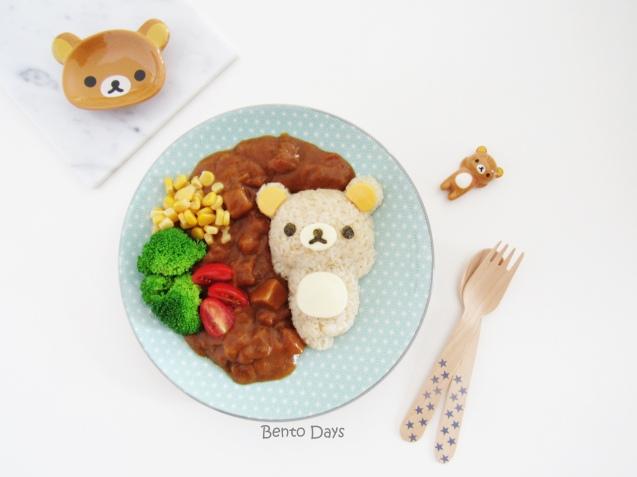 Rilakkuma Curry food art bento