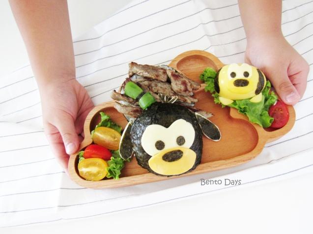 Goofy Tsum Tsum rice burger bento