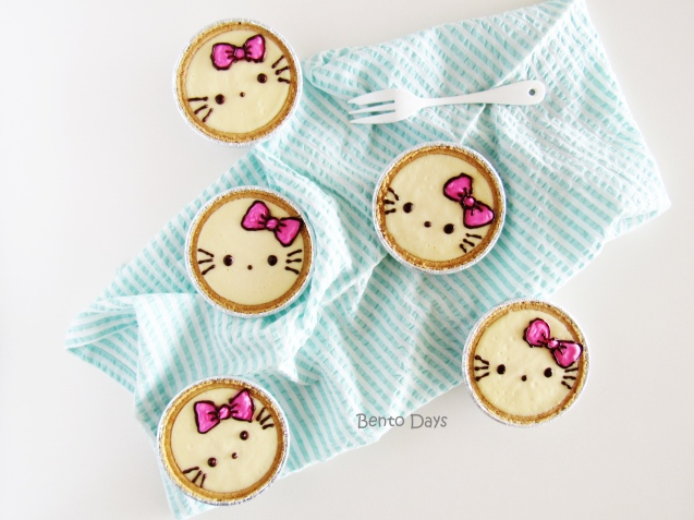 Hello Kitty no-bake cheesecake tarts