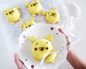 Pooh tsum tsum chiffon cakes
